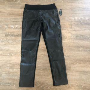 💙 INC Skinny Leg Regular Fit Faux Leather Pants